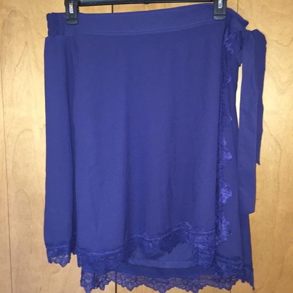 0565c180b7 torrid Skirts   Nwt Sz 3 Blue Wrap Skirt With Lace Trim   Poshmark
